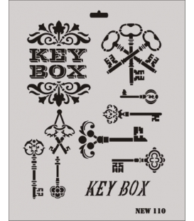 Rich New Seri N-110 Key Box Anahtar Stencil 35x25cm