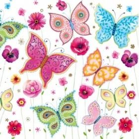 Maki Peçete Desenli Kelebekler 72-  SLOG-023601 Özel Desen 33x33