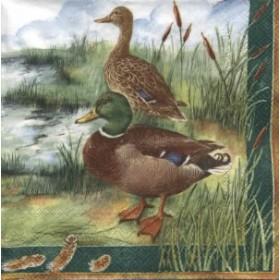 Ihr Peçete Yeşil Başlı Ördek 79- L-77120 Özel Desen 33x33