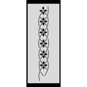 U018 Stencil 10x25 cm