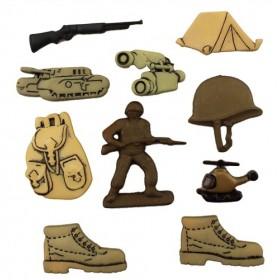Dekoratif Düğme Askerler 4050