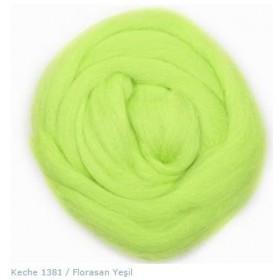 Nako Keçe Yünü 1381 Floresan Yeşil