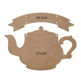 Çaydanlık Tabela Pano Ahşap Obje