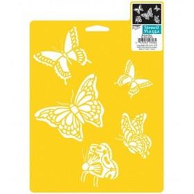 Plaid Stencil 17,5cmx25cm Kelebekler Butterflies 970820710