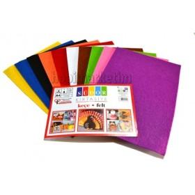 İnce Keçe Seti 10 Renk - A4 Ebat