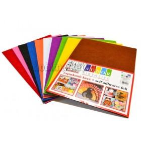 Yapışkanlı Keçe Seti 10 Renk A4 Ebat