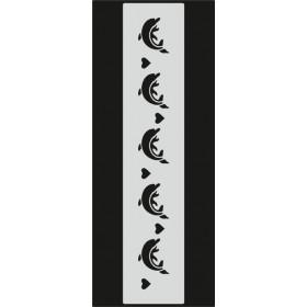 U074 Stencil 10x25 cm
