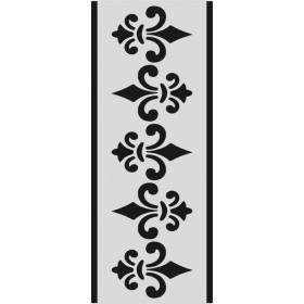 U076 Stencil 10x25 cm