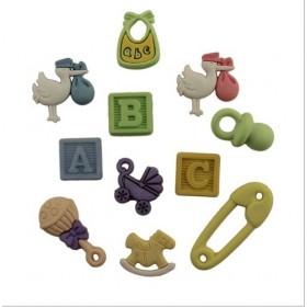 Dekoratif Düğme Baby A-B-C 4427