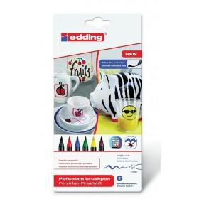 Edding 4200 Porselen Kalemi STANDART Renkler 6'lı Set