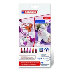 Edding Porselen 4200 Kalemi SICAK Renkler 6'lı Set