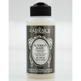 Cadence Ultimate Glaze Su Bazlı Sır Vernik 120 ml