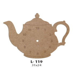 Çaydanlık Saat  Ahşap Obje