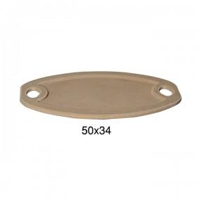 Oval Dekupaj Tepsi 50x34cm