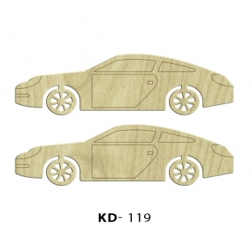 2'li Araba  Paket Süs Ahşap Obje KD-119