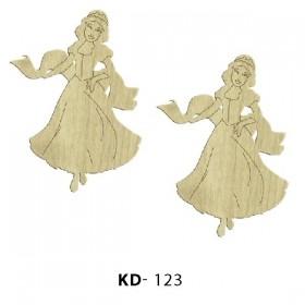2'li Prenses Paket Süs Ahşap Obje KD-123