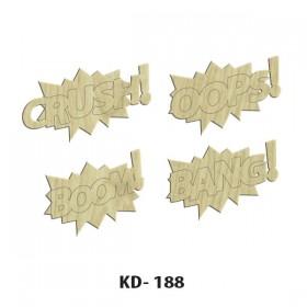 Crush-Oops-Bang-Boom! Paket Süs Ahşap Obje KD-188