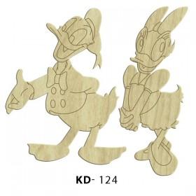 Donald ve Daisy Duck Paket Süs Ahşap Obje KD-124