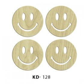 Gülen Suratlar 4'lü Paket Süs Ahşap Obje KD-128