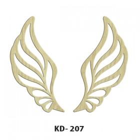 Kanatlar Model-2 Paket Süs Ahşap Obje KD-207