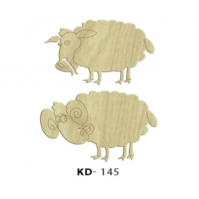 Koyunlar 2'li Paket Süs Ahşap Obje KD-145