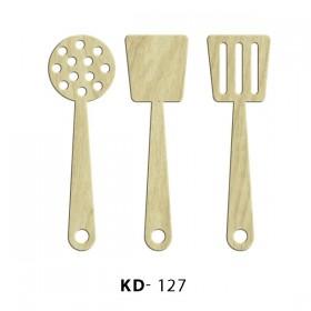 Mutfak Seti 3'lü Paket Süs Ahşap Obje KD-127