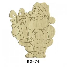 Noel Baba Paket Süs Ahşap Obje KD-74