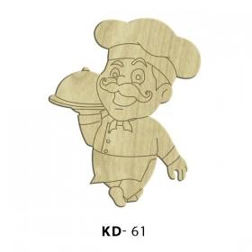 Sevimli Aşçı Paket Süs Ahşap Obje KD-61
