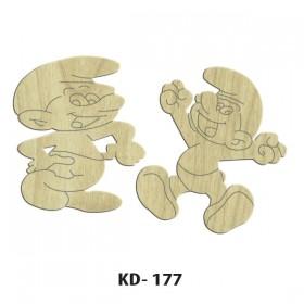 Şirinler Paket Süs Ahşap Obje KD-177