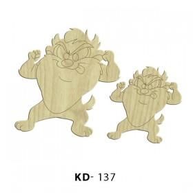 Tazmanya Canavarı Paket Süs Ahşap Obje KD-137