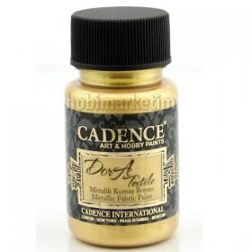 Cadence Dora Tekstil Metalik Kumaş Boyası 1136 Altın-R.Gold