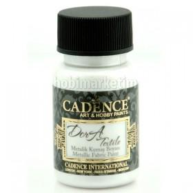 Cadence Dora Tekstil Metalik Kumaş Boyası 1152 İnci Beyazı