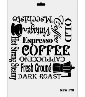 Rich New Seri N-178 Coffe Stencil 35x25cm