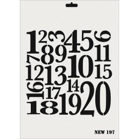 Rich New Seri N-197 Sayılar Rakam Stencil 35x25cm