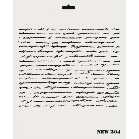 Rich New Seri N-204 Mektup Yazı Stencil 35x25cm