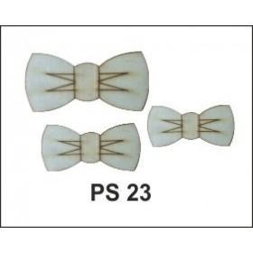 Lazer Kesim Ahşap Süs PS23 Papyonlar