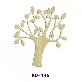 Ağaç Paket Süs Ahşap Obje KD-146