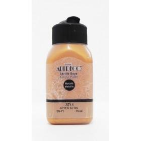 3711 AZTEK ALTIN Artdeco Metalik Akrilik Boya 75 ml