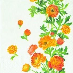 Ihr Peçete Düğün Çiçeği L-495590 Özel Desen 33x33