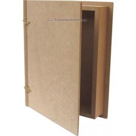 Kitap Kutu Ahşap Obje Büyük 27x22x5cm