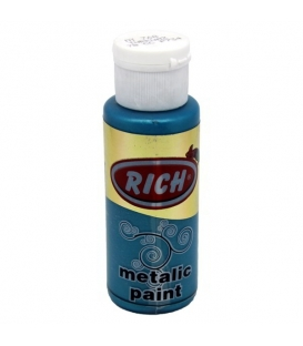 Rich 768 Metalik Turkuaz  70 ml Metalik Ahşap Boyası