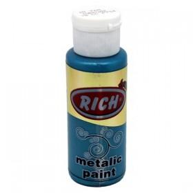 Rich 768 Metalik Turkuaz  70 ml Metalik Ahşap Boyası