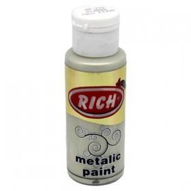 Rich 776 Metalik Platin 70 ml Metalik Ahşap Boyası