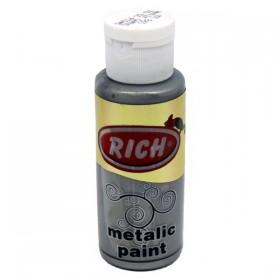 Rich 863 Metalik Antik Gümüş 70 ml Metalik Ahşap Boyası