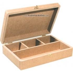 Bölmeli Kutu 4 Gözlü