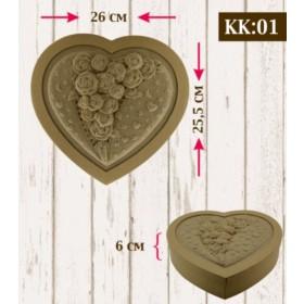 Boyanabilir Kabartmalı Karton Kutu KK-01