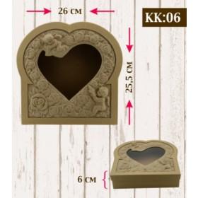 Boyanabilir Kabartmalı Karton Kutu KK-06