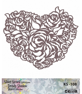 Cadence Siluet Trendy Shadow Stencil KS-108