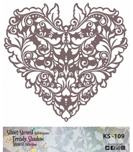 Cadence Siluet Trendy Shadow Stencil KS-109