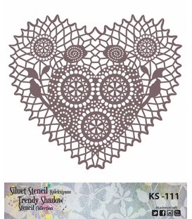 Cadence Siluet Trendy Shadow Stencil KS-111